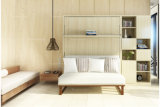 Modern Murphy Wall Bed with Living Room Sofa