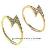 Promotion High Quality Fashion Jewelry 925 Silver Ring Special Design Note Ring Factory Wholesale Price R10262
