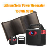 150wh Solar Generator with Foldable Solar Panel