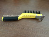 11 Inch Two Colour Plastic Handle Steel Wire Brush (YY-538)