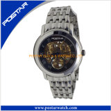 Customized Fashion Skeleton Automatic Mechanical Watch with Nice Appearance