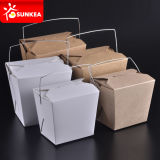 Paper Packaging Printing Disposable Handled Container