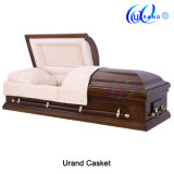 Veneer High Gloss Velvet African Dome Casket and Coffin