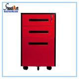 Office File Storage 3 Drawer Steel Mobile Cabinet
