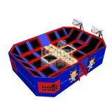 Hot Selling Park Trampoline for Sports Equipment with Basketball Hoop