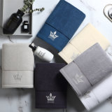 High Quality 100% Cotton Plain Dyed Custom Towels Bath Set Luxury Hotel Embroidered Logo