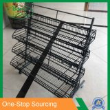 Chrome Plating Fruit Display Rack and Stand for Supermarket