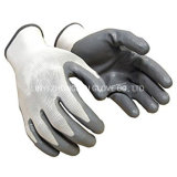 Best Price Industrial Work Gloves 13 Gauge Polyester Knitted Grey White Nitrile Coated Gloves