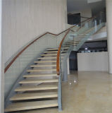 Cheap Factory Price Curved Staircase Modern Steel Wood Stairs