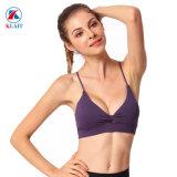 Wholesale New Style Women Seamless Cross Back Sport Yoga Tops Gym Fitness Bra Wear