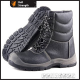 Hot Selling Winter Safety Shoes Embossed Leather Industry Women/Men Working Footwear Army Boot Steel Toe Industrial Injection Sole Best Quality Standards Sn5341