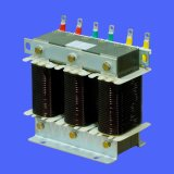 Low voltage series reactor filter rated at 6%, 7% and 14%