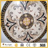 Round Inlay Natural Marble Stone Waterjet Medallion, Medallion Pattern