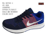Three Color Big Size Flyknit Men Shoes