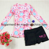 Girl's Long Sleeve Swimming Suit, Lace Lovely Swimming Wear
