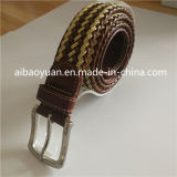 Bonned Leather and Cotton Thread Mixture Braided Belt