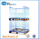 Wire Cage with Wooden Pallet Wire Mesh Container