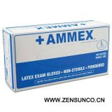 Ammex Latex Powdered Exam Gloves-Ap
