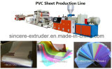 PVC Solid Soft Sheet Extrusion Production Machine with Twin Screw Extruder