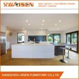 Australia Market White Glossy Lacquer Kitchen Cabinet with Island Design