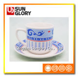 Wholesale Decal Porcelain Cup&Saucer of Bd008