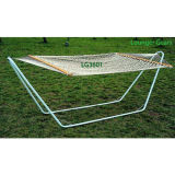 Metal Frame Portable Cotton Rope Hammock