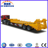 60 Tons Two-Axle Low Bed Semi Trailer with Foldable Ramp