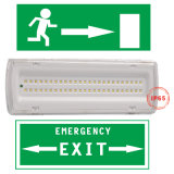1038 Plastic Housing LED Rechargeable Emergency Exit Bulkhead Light China with Ni-CD Battery for Exit Sign