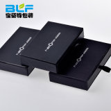 Black Paper Small Cardboard Jewelry Box with Drawer Handles