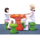 High Quality Murshroom Plastic Table Chairs for Kindergarten and Park