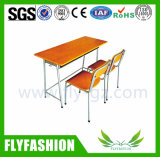 High Quality Classroom Furniture Double Desk and Chair (SF-28D)