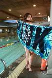 Wholesale Customized 100% Cotton 70*145cm 330g Active Printed Terry Bath Towel Beach Towel