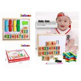 Wooden Board Magnetic Math Numbers Education Children Stick Toys