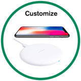 Wood Qi Standard Fast Universal Wireless Charger for iPhone and Samsung