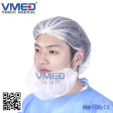 Disposable Surgical Medical Non-Woven Beard Cover with Elastic, Machine Made Nylon Wholesale Hospital Beard Cover