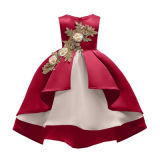 Wholesale High-Grade Red Wedding Gown Kid Birthday Party Dress