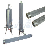 316L Screw Sediment Pleated Filter Micro Porous 20 Microns Stainless Steel Filter Rod with 10 20 30 Inch Single Cartridge Housing