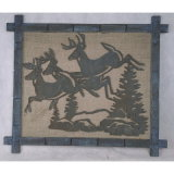 Home Antique Wall Hanging Decoration Elk Art Wall Plaque