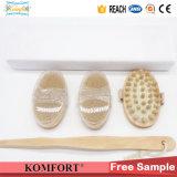 Wood Handle Beauty Dry Skin Boar Bristle Gift Bath Brush Set (JMHF-146)