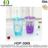 Newly 16oz Customized Plastic Double Wall Tumbler with Freezer (HDP-3069)