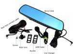 4.3 Inch Dual Lens Rearview Mirror Driving Recorder