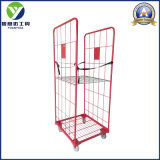 Logistic and Storage Steel Mesh Roll Pallet Roll Container with Shelf