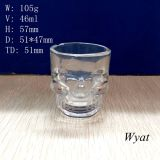 50ml Skull Head Glass Cup Glass Skull Design Cup Skull Glass