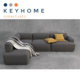 Wholesale Home Furniture Gray Fabric Sofa Corner Sofa