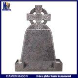 High Polishing Upright Purple Granite Tombstone with Celtic Cross