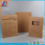 Stand up Documents Packaging Kraft File Bag with String