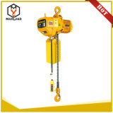 1 Ton Top Quality Electric Lifting Chain Wire Rope Hoist with Hook Fixed Type (HHBB01-01SS)
