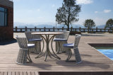 Outdoor Furniture Fold Imitation Wood Table Rattan Chair