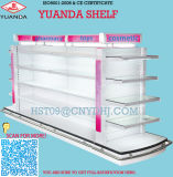 Supermarket Display Gondola Shelves with LED Lamp for Cosmetics
