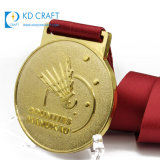 Wholesale China Personalized Custom Metal Brass Embossed 3D World Championship 1st Place Sports Badminton Medal